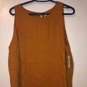 Mustard/ orange coloured tank, Old Navy NWT 2X